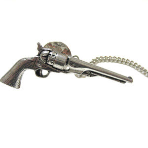 Antique Revolver Gun Tie Tack